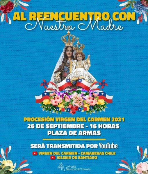 Participa en la procesión de la Virgen del Carmen